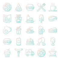 Pacote de ícones de fast-food