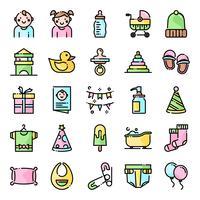 Pacote de ícones de chá de bebê