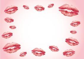 cartão de fundo kisser