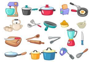 Ilustração de vetor de utensílios de cozinha