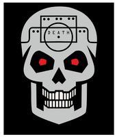 emblema com caveira vetor
