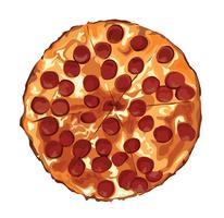 o desenho de pizza