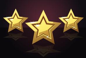 Ícone de três estrelas de ouro vetor