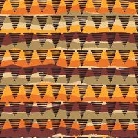Padrão sem emenda étnica tribal com elementos geométricos vetor