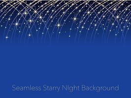 Fundo sem emenda do céu noturno estrelado com as raias de estrelas de tiro. vetor