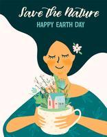 Dia da Terra. Modelo de vetor para diferentes usos