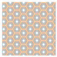 Design Padrão Hexagonal Amarelo vetor