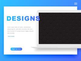 Cabeçalhos de modelo de Design do site e elementos de interface. Design de cabeçalho. vetor