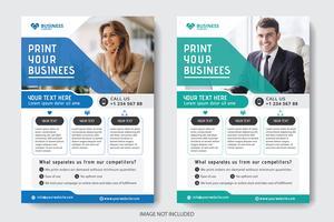 Folheto de negócios corporativos vetor