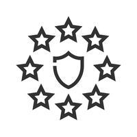 Ícone de Regulação Geral de Proteção de Dados GDPR, estilo de linha vetor