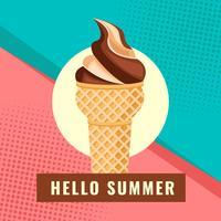 Verão com vetor de sorvete
