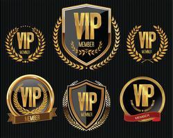 Coleção de distintivo dourado de membro VIP