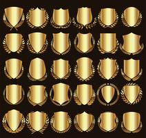 Escudos Dourados vetor