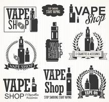 Elementos para a coleção de cigarros eletrônicos Vapor bar e vape shop