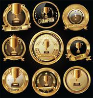 Emblemas do troféu vetor