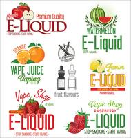 Coleção de design retrô de sabor líquido cigarro eletrônico