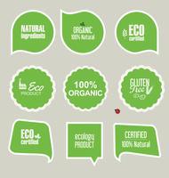 Eco Vintage Labels Bio template set Projeto retrô de ecologia