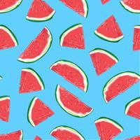 Padrão sem emenda de fatias de melancia. Ilustração vetorial