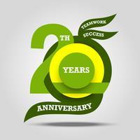 20º aniversário sinal e logotipo comemoração vetor