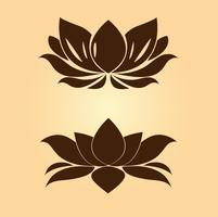 símbolos de lótus vetor