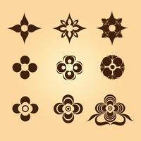 Símbolos florais e formas