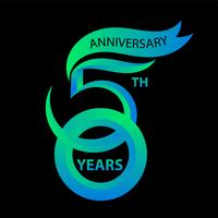 Sinal de 50º aniversário e logotipo para símbolo de comemoração vetor