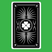verso do cartão de jogo vetor