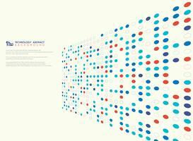 Teste padrão moderno do círculo de cores da tecnologia do fundo da tampa da perspectiva. ilustração vetorial eps10