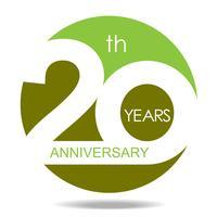 Aniversário de 20 anos vetor