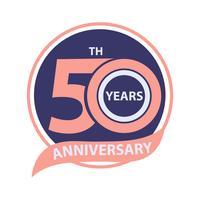 Celebração do sinal e celebração do 50º aniversário vetor