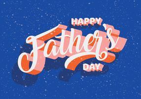 Tipografia do dia dos pais Vector Design