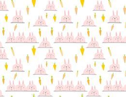 Fundo bonito do teste padrão do coelho, teste padrão da Páscoa para crianças, ilustração do vetor.