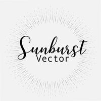 O estilo do Sunburst isolado no fundo branco, estourando irradia a ilustração do vetor.