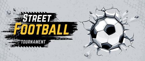 Ilustração em vetor design de futebol de rua