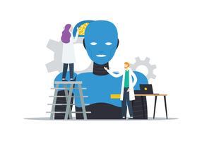 Robô Inteligente vetor
