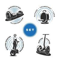 Emblemas de scooter elétrico vetor