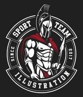 Emblema de gladiador vetor