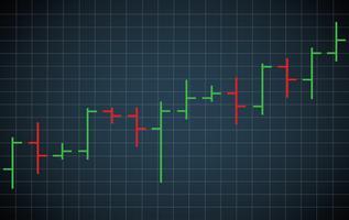 ilustração em vetor de gráfico de barras gráfico de ações
