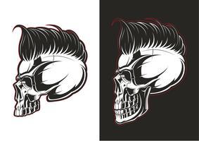 Perfil do crânio de barbeiro