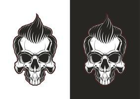 Crânio com cabelo