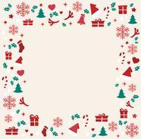 Elementos de Natal com ilustração em vetor fundo espaço padrão