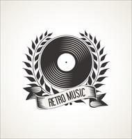 Retro emblemas de discos de vinil