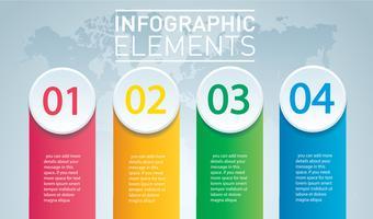 infográfico de círculo. Modelo de vetor com 4 opções. Pode ser usado para web, diagrama, gráfico, apresentação, gráfico, relatório, passo a passo infográficos. Fundo abstrato