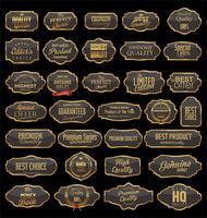 Vintage frames retro emblemas e etiquetas coleção em branco vetor