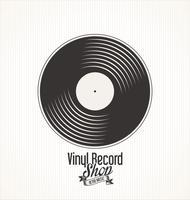 Bandeira de grunge retrô de loja de discos de vinil vetor