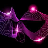 Resumo listras gradiente linha de onda arte vetor
