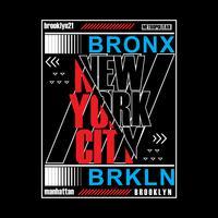 Brooklyn remix tipografia, gráficos de t-shirt, vetores