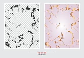 Fundo da textura do mármore do ouro de Rosa. vetor