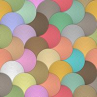 Padrão sem emenda de onda de cor na arte vetorial.