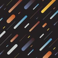 Linhas diagonais do teste padrão geométrico dinâmico multicolorido abstrato no fundo escuro. Estilo retrô